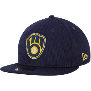 Milwaukee Brewers New Era Navy 2020 Ball & Glove Clubhouse 9FIFTY Snapback Cap