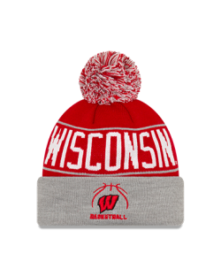 Wisconsin Badgers Basketball New Era Pride A3 Cuffed Pom Knit