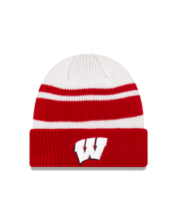 Wisconsin Badgers New Era Red Cozy A3 Cuffed Knit
