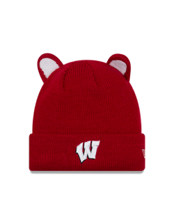 Wisconsin Badgers New Era Red Toddler Cozy Cute Ear Knit