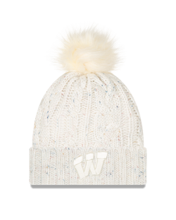 Wisconsin Badgers New Era Women's Fuzzy A3 Pom Knit
