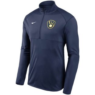 Milwaukee Brewers Nike 2020 Ball & Glove Element 1/2 Zip