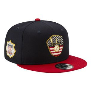 Milwaukee Brewers New Era Navy 2019 July 4th 9Fifty Snapback Cap
