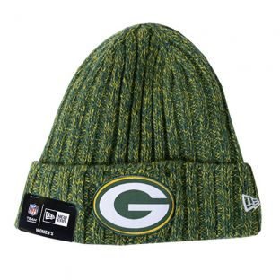 Green Bay Packers New Era Green Women's 2018 Sideline Cuffed Knit
