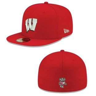 Wisconsin Badgers New Era 59FIFTY W Fitted Hat