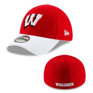 Wisconsin Badgers New Era Red & White Pop Shadow 2 Fitted Cap