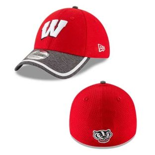 Wisconsin Badgers New Era Red Tinted Trim Hat