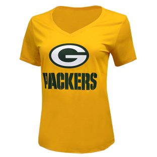 Green Bay Packers Gold Nike Dri-Fit V-Neck T-Shirt
