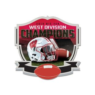 Wisconsin Badgers Football 2019 Big Ten West Division Champions Lapel Pin