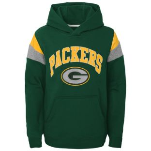 Green Bay Packers Outerstuff Green Youth Throwback Hooded Sweatshirt
