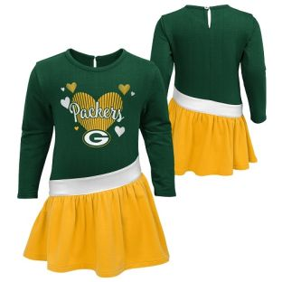Green Bay Packers Outerstuff Green 4-7 All Hearts Dress