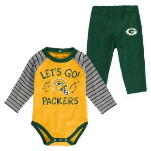 Green Bay Packers Outerstuff Infant Touchdown Long Sleeve Onesie Pant Set
