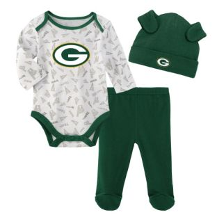 Green Bay Packers Outerstuff Green Newborn Greatest Lil Player Set