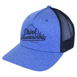 Drink Wisconsinbly Heather Trucker Adjustable Hat