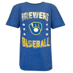 Milwaukee Brewers Youth Royal Triple Play T-Shirt