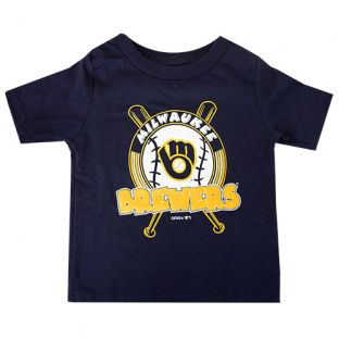 Milwaukee Brewers Navy Infant Fun Park T-Shirt