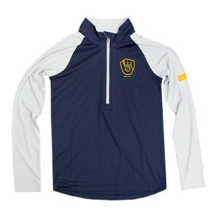 Milwaukee Brewers Navy Youth Destined 1/4 Zip