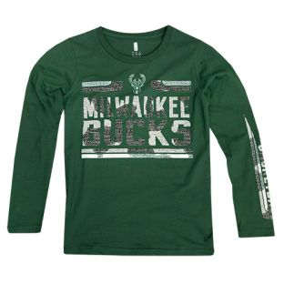 Milwaukee Bucks Green Youth Orion Long Sleeve T-Shirt
