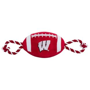 Wisconsin Badgers Nylon Football Dog Toy