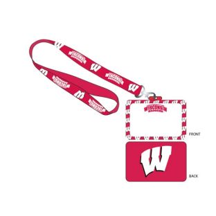 Wisconsin Badgers Lanyard w/ ID Holder