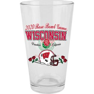 Wisconsin Badgers 2020 Rose Bowl Commemorative Pint Glass