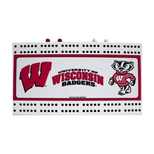 Wisconsin Badgers Cribbage Board