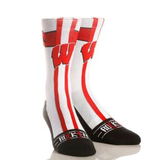 Wisconsin Badgers White Jersey Socks