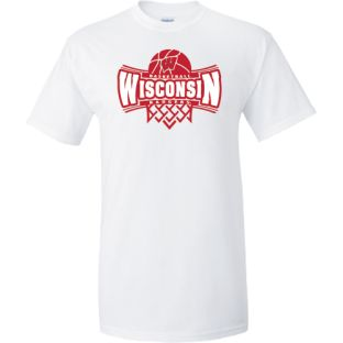 Wisconsin Badgers White Basketball Whiteout T-Shirt