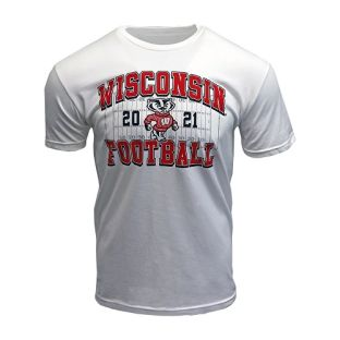 Wisconsin Badgers White 2021 Football Schedule T-Shirt