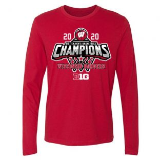Wisconsin Badgers Basketball 2020 Big Ten Conference Champs Net Long Sleeve T-Shirt
