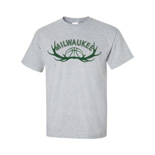 Milwaukee Gray 12 Pointer Short Sleeve T-Shirt