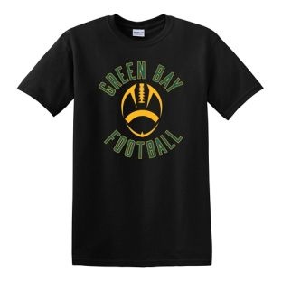 Green Bay Football Black Short Sleeve T-Shirt