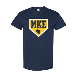 Milwaukee Navy Home Plate Short Sleeve T-Shirt