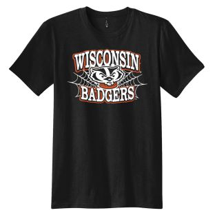Wisconsin Badgers Black 2020 Bucky's Web Halloween T-Shirt