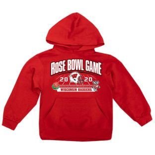 Wisconsin Badgers Red Youth 2020 Rose Bowl Hooded Sweatshirt