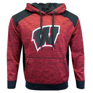 Wisconsin Badgers Red Nighthawk Nordic Hooded Sweatshirt