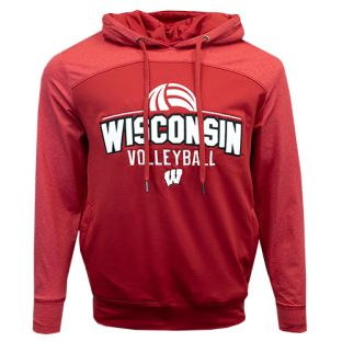 Wisconsin Badgers Volleyball Red Polar Hooded Sweatshirt