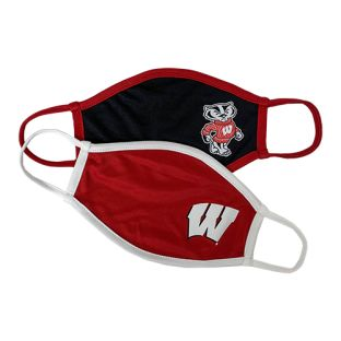 Wisconsin Badgers Logo'd Face Covering 2-Pack