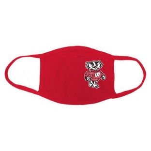 Wisconsin Badgers Heather Red 3 Pack Bucky Face Coverings