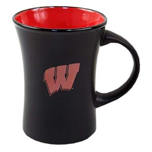 Wisconsin Badgers Black 10 Ounce Hilo Mug