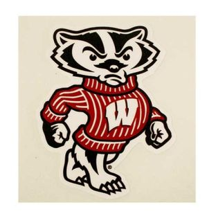 "Wisconsin Badgers 6"" Bucky Decal"