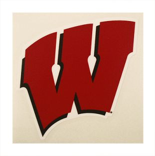 "Wisconsin Badgers 4"" Motion W Decal"