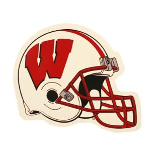 Wisconsin Badgers Small Football Helmet Car Magnet