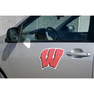 Wisconsin Badgers Motion W Car Magnet