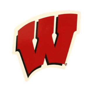 Wisconsin Badgers Small W Car Magnet