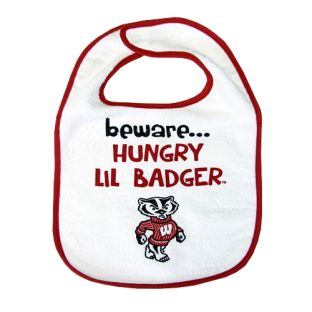 Wisconsin Badgers Infant Beware Bib