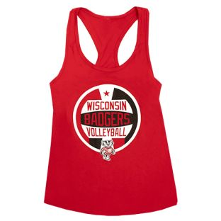 Wisconsin Badgers Red Women's Volleyball Worded Tank