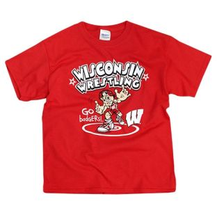 Wisconsin Badgers Youth Wrestling Champs T-Shirt