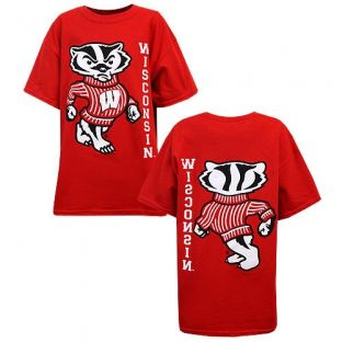 Wisconsin Badgers Youth Bucky Front Back T-Shirt