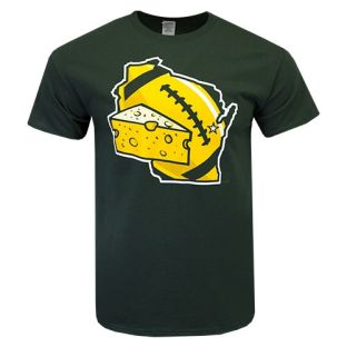 Wisconsin Green Football Cheese T-Shirt